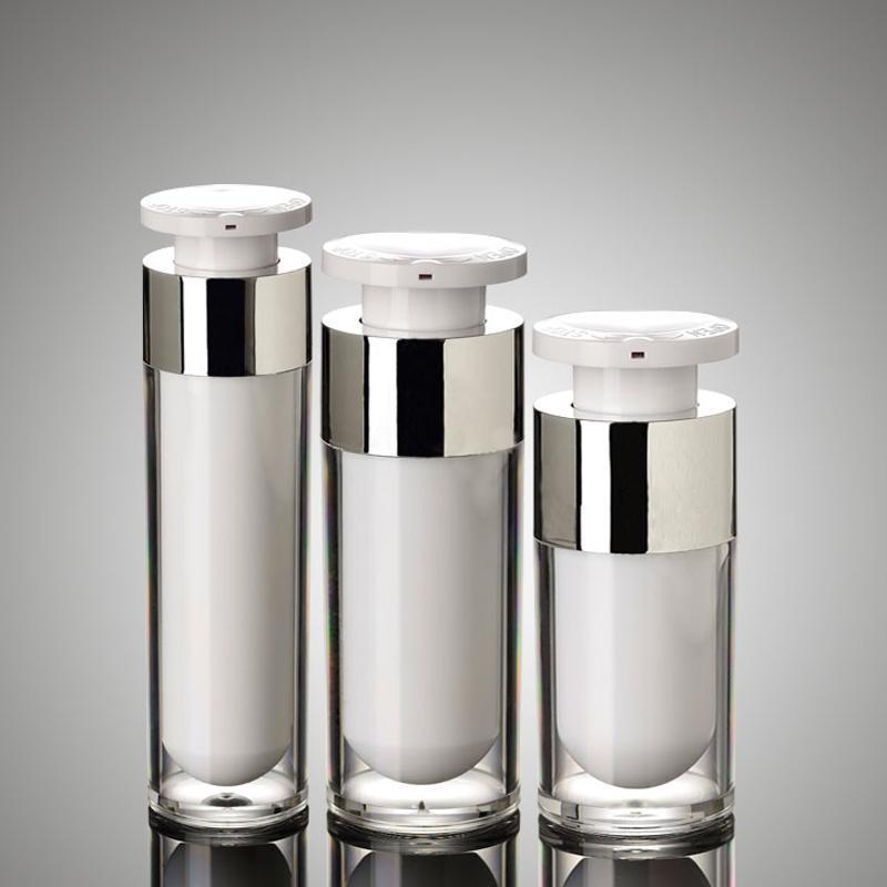 15ml 30ML 50ML Presse Pump Acryl Airless-Flaschen Hautpflege Flüssige Lotion Creme Kunststoff kosmetischer Behälter Verpackung 10pcs / lot