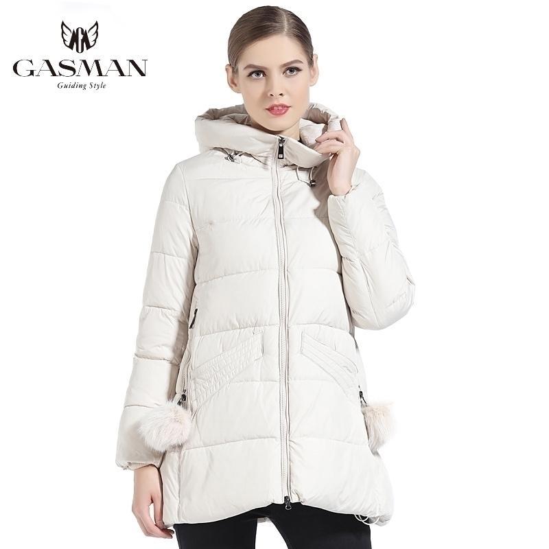 GASMAN Kadınlar Kış Coat Kapşonlu Kalınlaşma Moda Aşağı Ceket Marka Kadın Rüzgar Geçirmez Palto Kapşonlu Bio Aşağı Parka 18833 201127