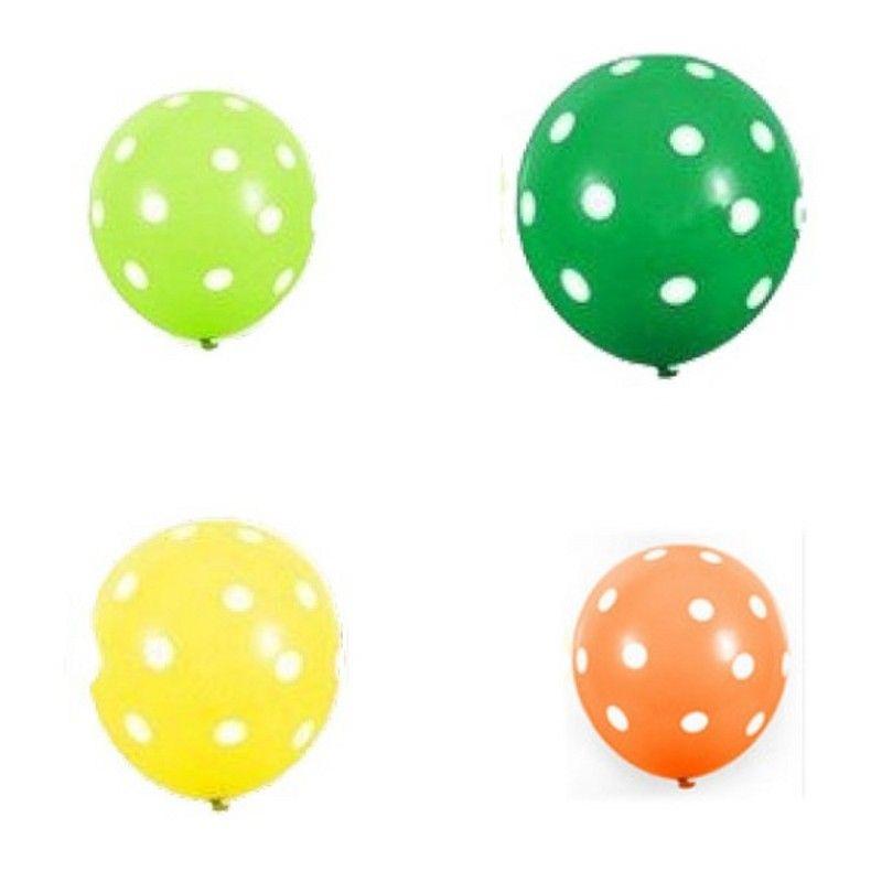 100 teile / los Bunte Polka Dot Ballons verdicken Latex Ballon aufblasbare Luftkugeln Hochzeit Geburtstag Festival Partei Ballondekor 9 G2