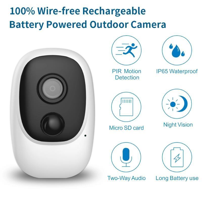 100% filo-Free IP batteria telecamera esterna fili di sicurezza impermeabile WiFi CCTV di sorveglianza Smart Alarm