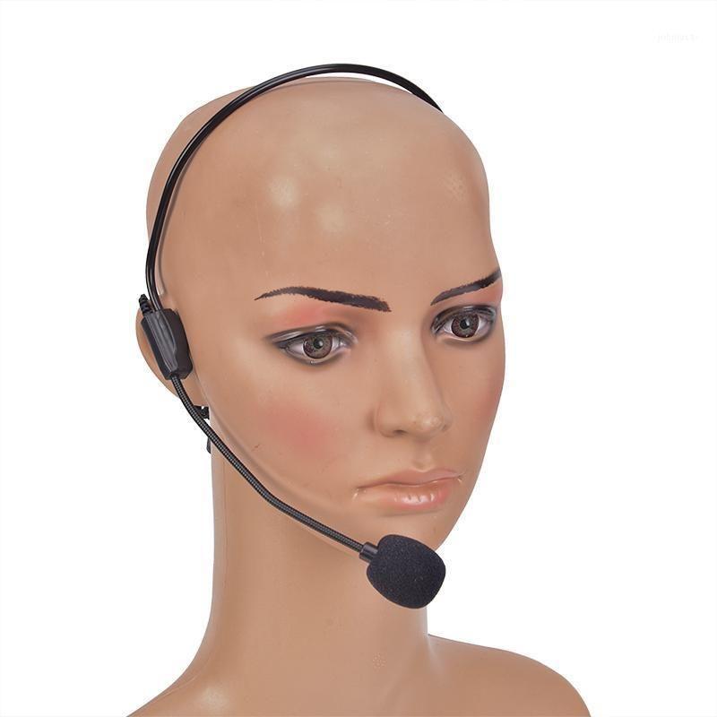 Microphone de casque portable câblé 3.5mm boucle mobile écouteurs dynamique jack micro pour haut-parleur guide touristique enseignement