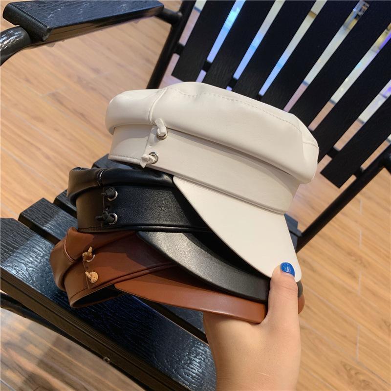 202009-YY clásico enrejado estilo británico calle de la moda de ocio octogonal hombres sombrero mujeres viseras casquillo