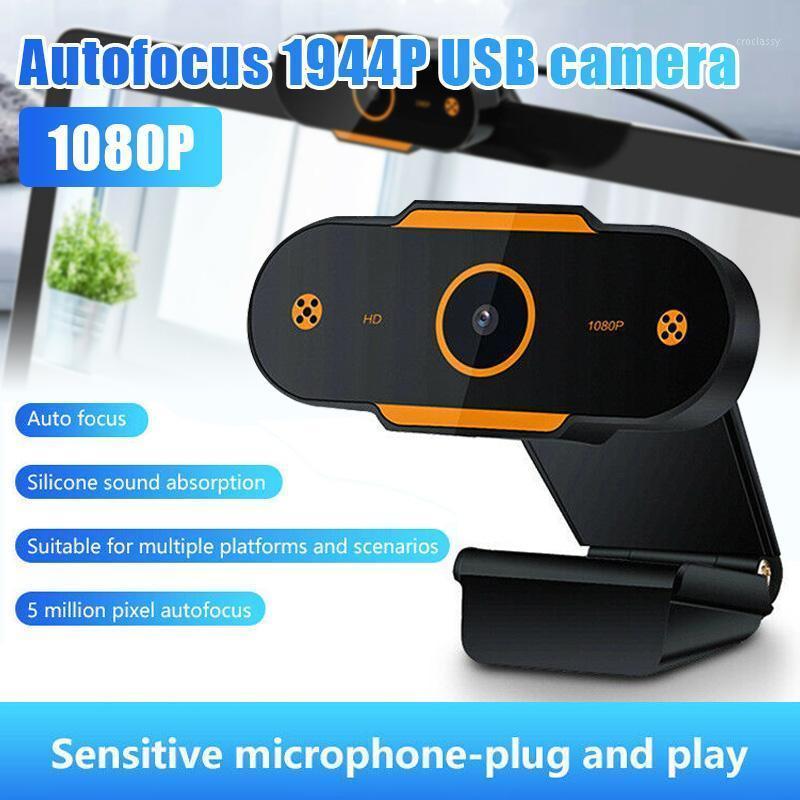 Webcams Auto Focus 1944P HD Webcam 1080p Câmera Web com Microfone para PC Laptop Desktop KQS81