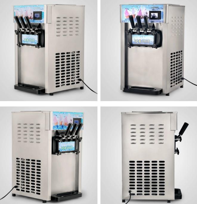 18L / H Iogurte Ice Cream Maker com visor LCD Commercial Soft Serve Ice Cream Máquina