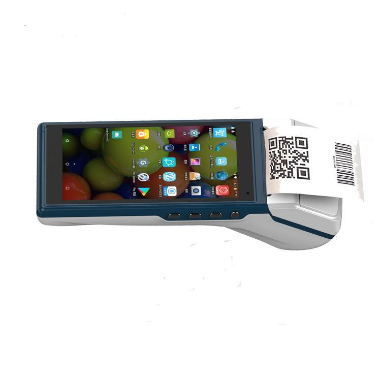 58mm Thermal Printer Receipt Ticket Printer with 5.5 inch touch screen bluetooth 4G WIFI NFC/RFID payment scanner