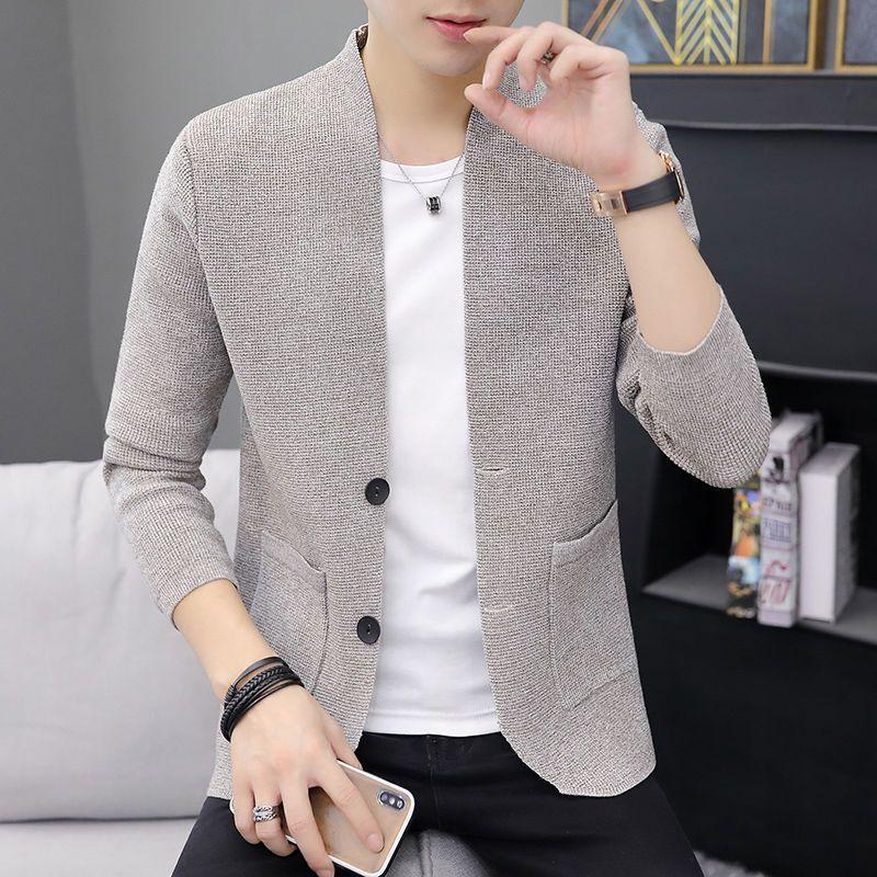 Maglieria da uomo cardigan da uomo 2020 autunno moda nuovo stile coreano manica lunga manica lunga maglione a maniche lunghe cappotto