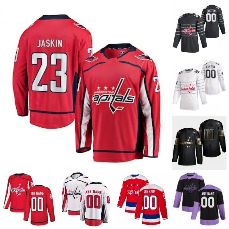 Custom Washington Capitals Daniel Sprong Dmitrij Jaskin Dmitry Orlov Garnet Hathaway Kovalchuk Ilya Samsonov 2020 Hockey Jersey Stitched