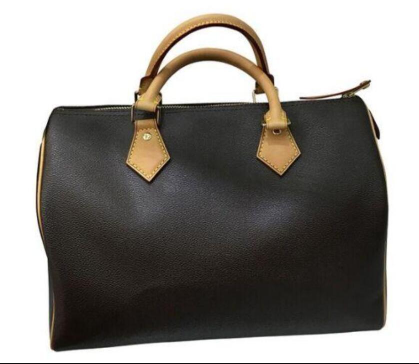 Di alta qualità 100% vera pelle di ossidazione Borsa della spesa veloce borsa 25/30/35 con serratura e sacchetto di chiave tote spalla Classic Canvas Bag