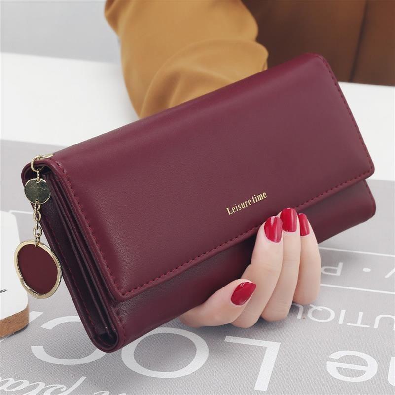 Yeni Moda Kadın Cüzdan Uzun Stil Çok fonksiyonlu cüzdan Cüzdan PU deri Kadın Debriyaj Kart Sahibi