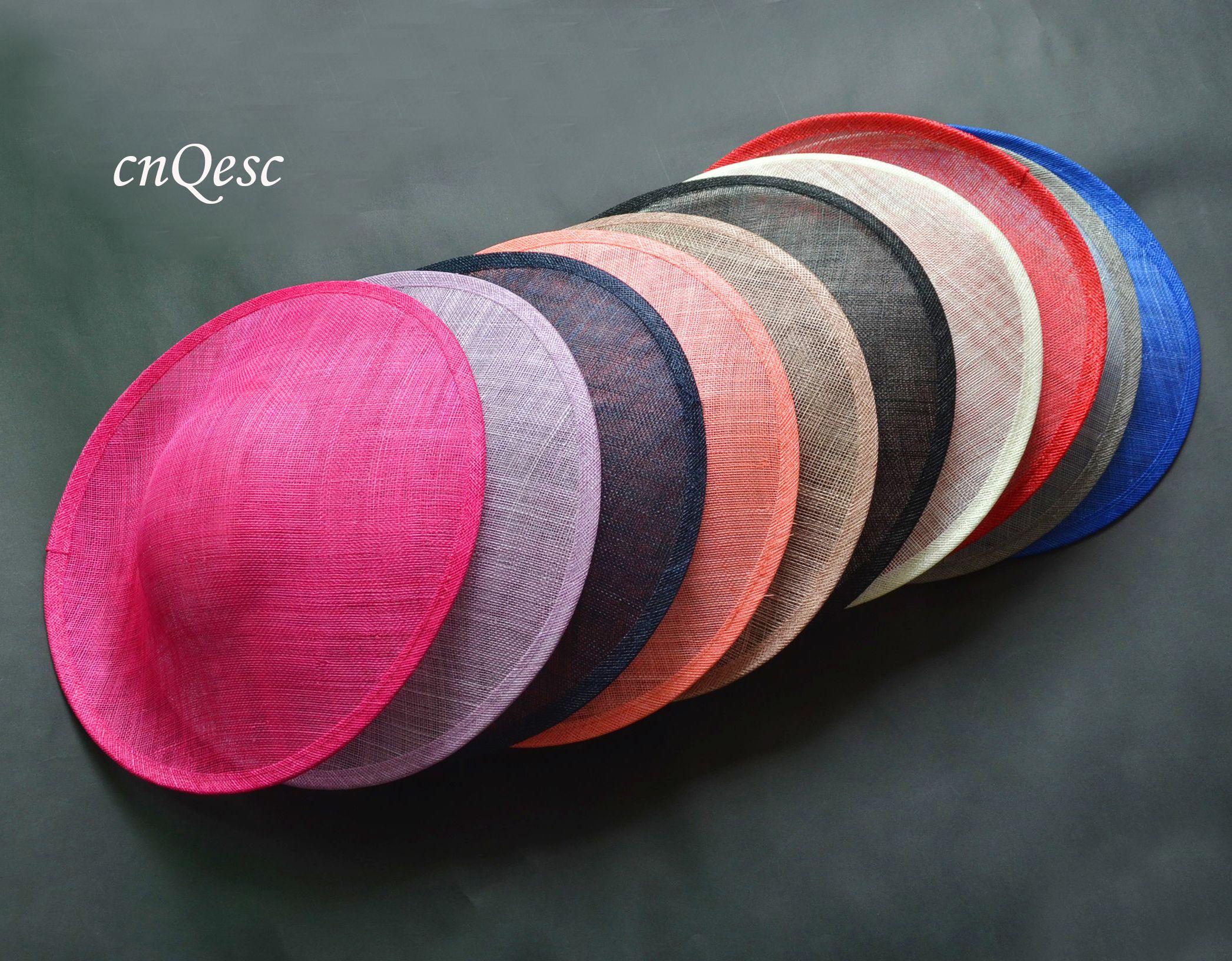 고품질 SINAMAY 바인딩 대형 접시 SINAMAY베이스 매혹적인 모자, 파티, 결혼식, 직경 33cm.