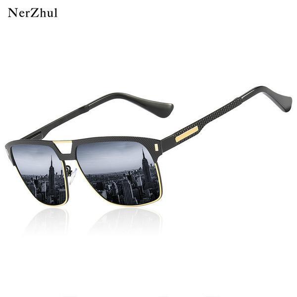 Klasik Mujer Adam Nerzhul Gözlük Kaplama Siyah Çerçeve Sol De Sürüş Erkek Erkek Balıkçılık Güneş Gözlüğü Gafas Polarize Xarih