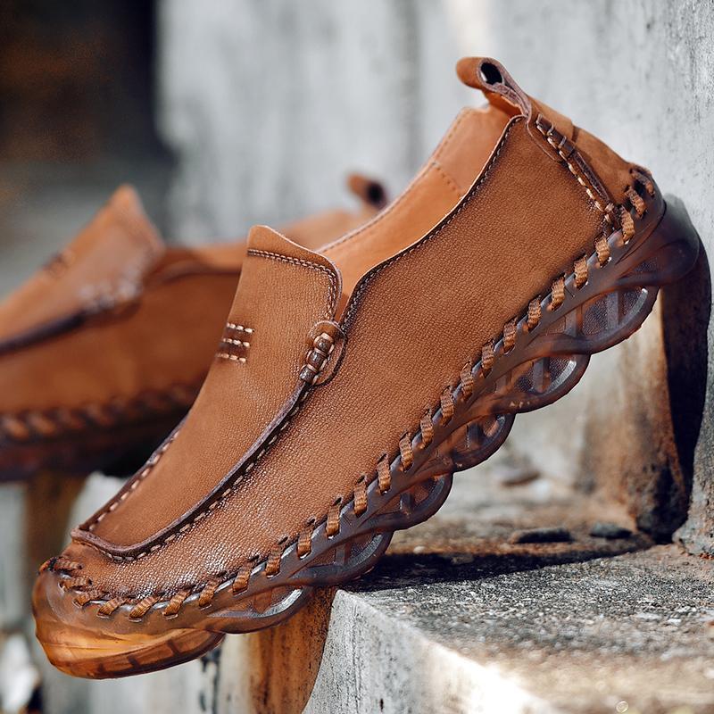 Новая мужская обувь Мода Обувь Мужчины Удобная обувь Мужчины Повседневная Открытый мужчина Мокасины качества мягкий скольжения на вождение
