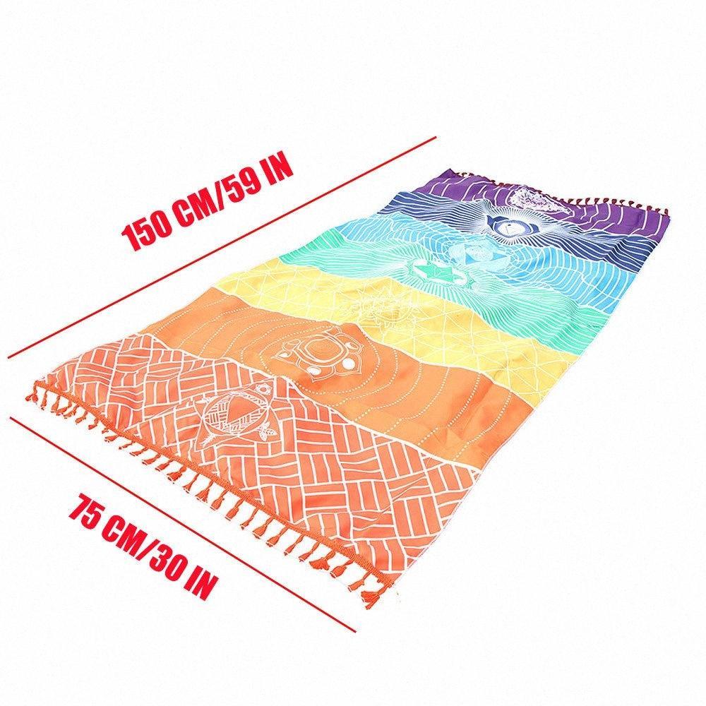 75 centímetros * 150 centímetros casa e jardim Sala Blanket Tapeçaria Tapeçaria Stripe Toalha Yoga Hot Rainbow Beach Mat Mandala Blanket XkzQ #