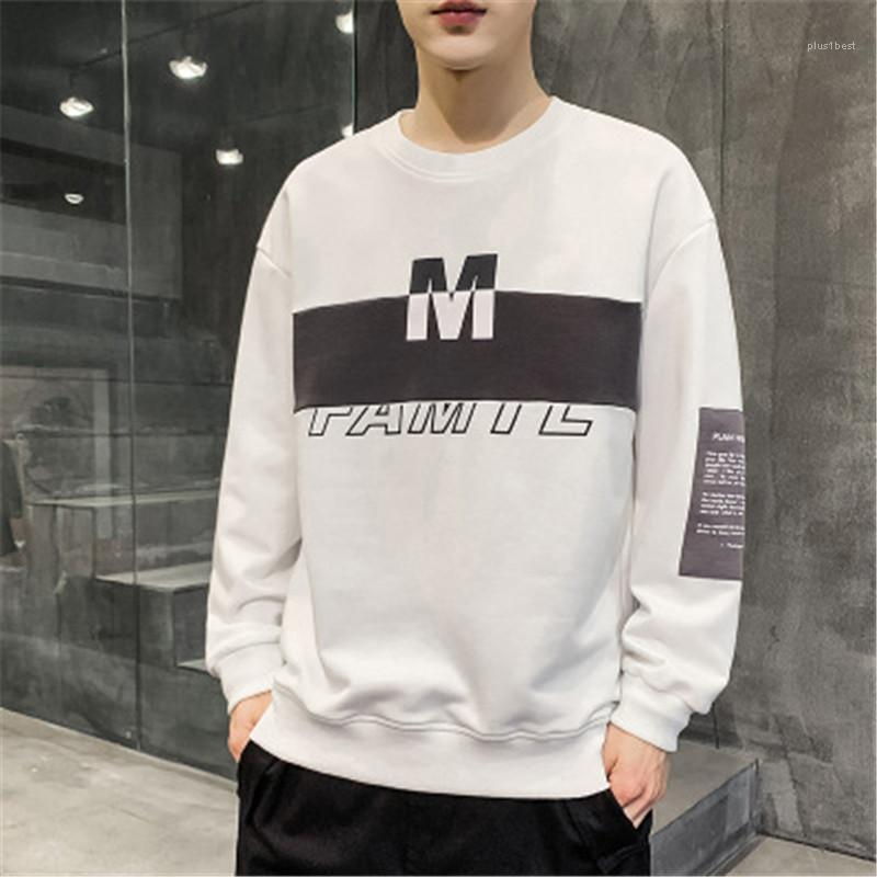 Tops Designer Male Loose Casual Tees Clothes Man Letter Contrast Sweatshirts Fashion Spring Autumn Long Sleeve Casual Round Neck All-match