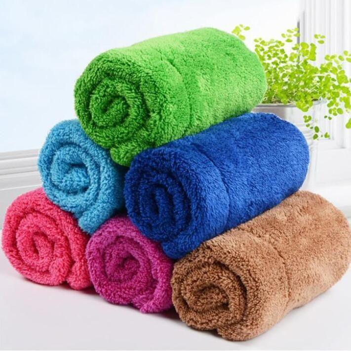 تنظيف منشفة مزدوجة سميكة المرجان duster صحن الملابس ستوكات القماش المطبخ مكافحة الشحوم وينغيبج الخرق أدوات التنظيف البحر DHC4887