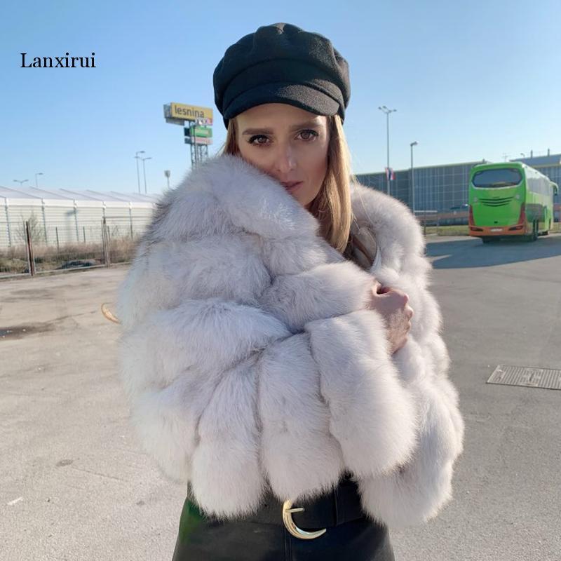 Neue Ankunft Frau Gefälschter Pelzmantel Kurz Stil Slim Fit Zipper Mode Elegante Dicke Warme Oberbekleidung Gefälschte Pelzjacke Chaquetas