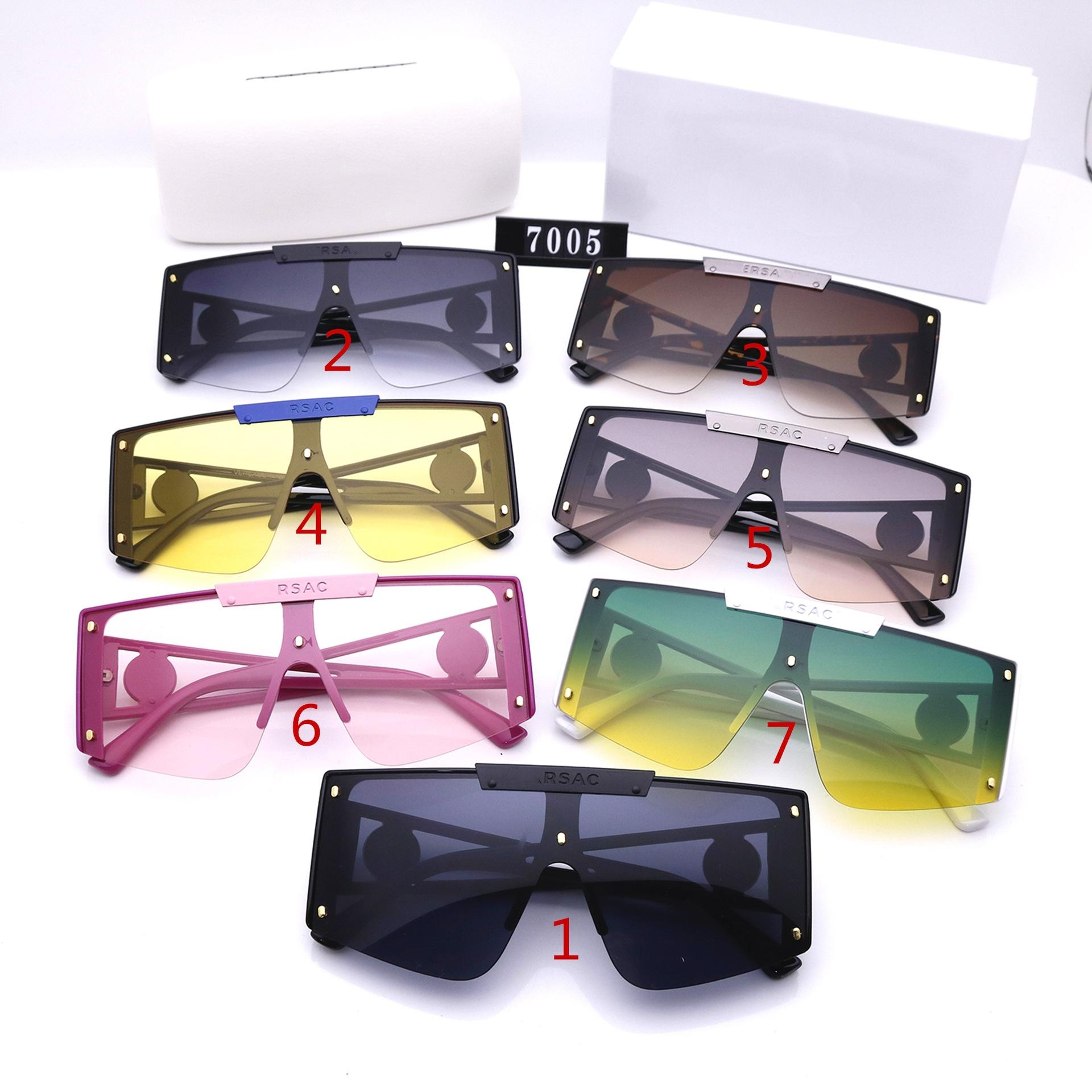 Erkekler ve Kadınlar için Moda Güneş Gözlüğü Tasarım Lüks Yüksek Kalite HD Polarize Lensler Büyük Çerçeve Bayanlar Sürüş Gözlük 7005