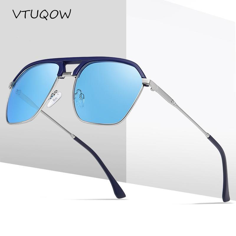 Классические рыболовные солнцезащитные очки мужские мужчины дизайнерские мужчины негабаритные солнце UV400 спортивные вождение путешествия пилот поляризованные очки езды на KDUOP