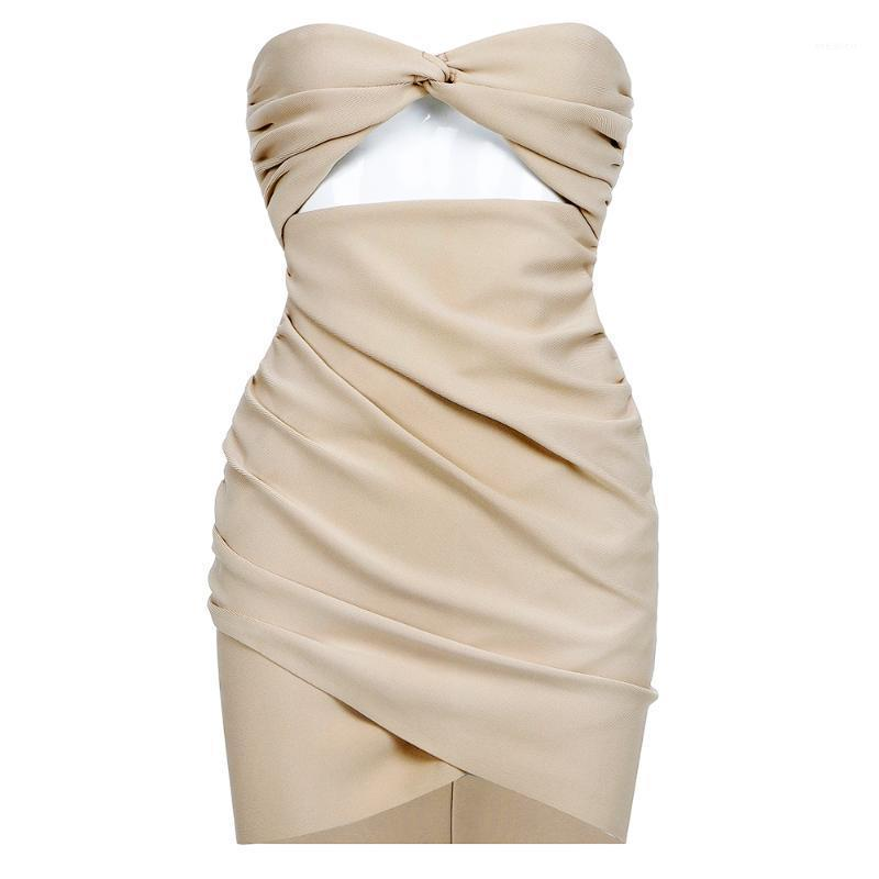 Vestido Vestido Vestidos de verano Vestidos de mujer sexy 2020 Party Bodycon Vestido Eleabagt Culb Culbo Strapless Bow Clothing1