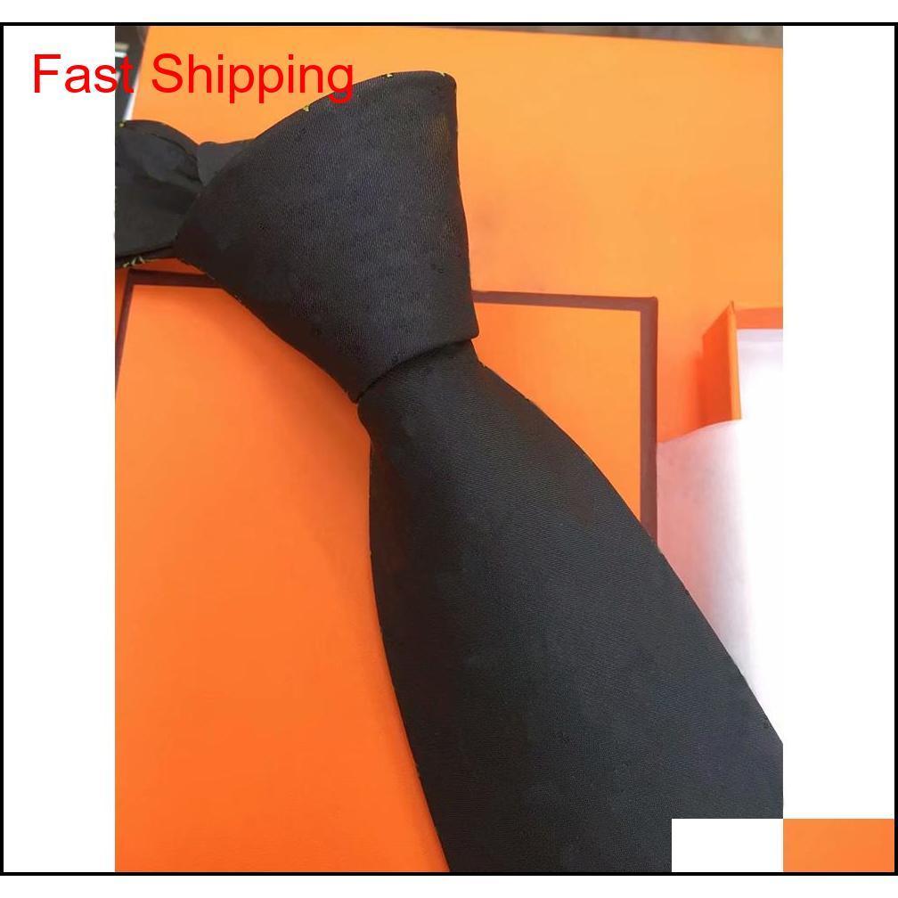 High-End Silk Necktie Mens Business Silk Ties Neckwear Jacquard Business Tie Wedding Neckwearytngr Gvyol