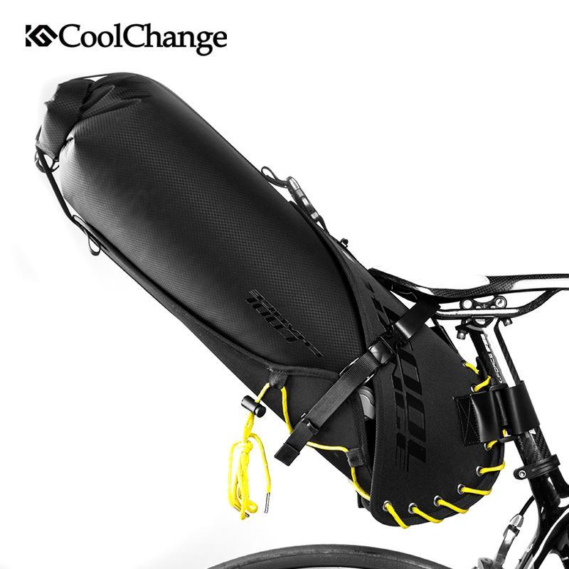 Selle à vélos imperméable pliable 12L MTB sac sacs sac de sac à queue arrière de la queue de vélo de cyclisme Pannier sac à dos de sac à dos XIORR