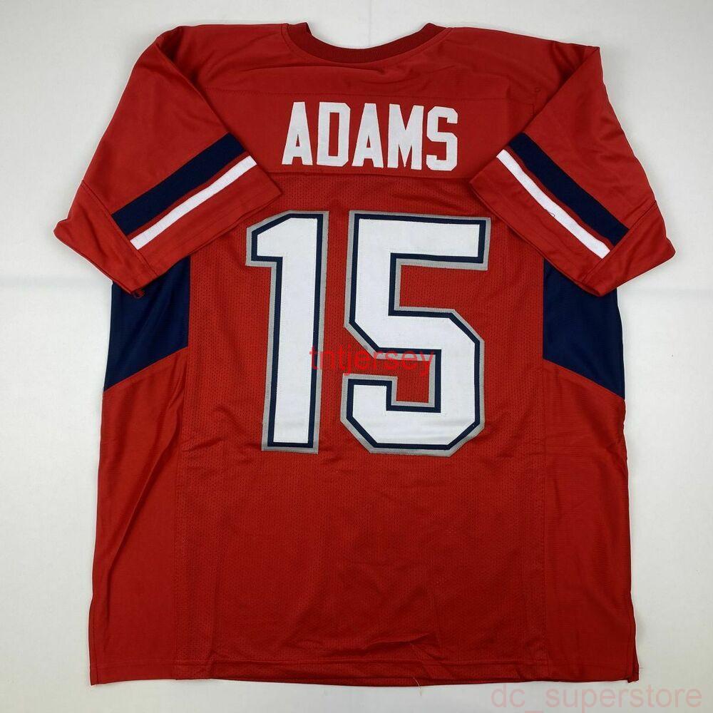 Ucuz Özel Yeni Davante Adams Fresno State Red Koleji Dikişli Futbol Jersey Herhangi bir isim numarası ekleyin
