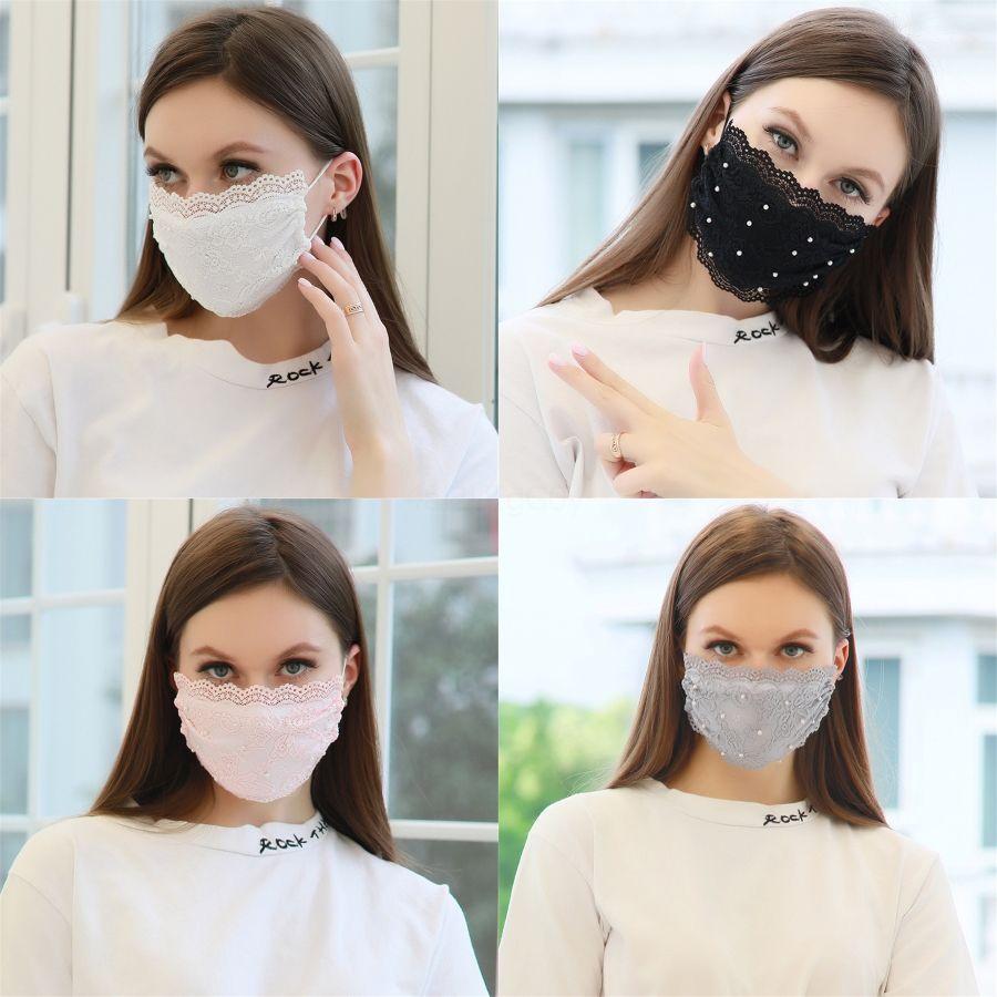 Maschera viso Moda Black Mask di tre strati prection Con Meltblown adulti Facemask stampa Rosso Blu Maschere # 478