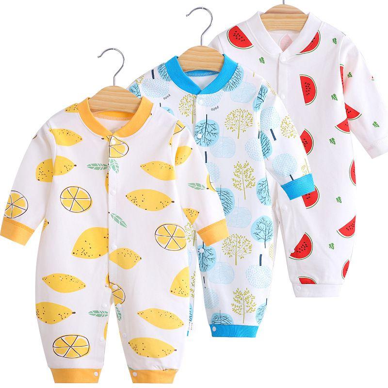 Niña recién nacida Romper Babygrow niño recién nacido niñas pequeñas impresión onesie del bebé del mono de manga larga 1021