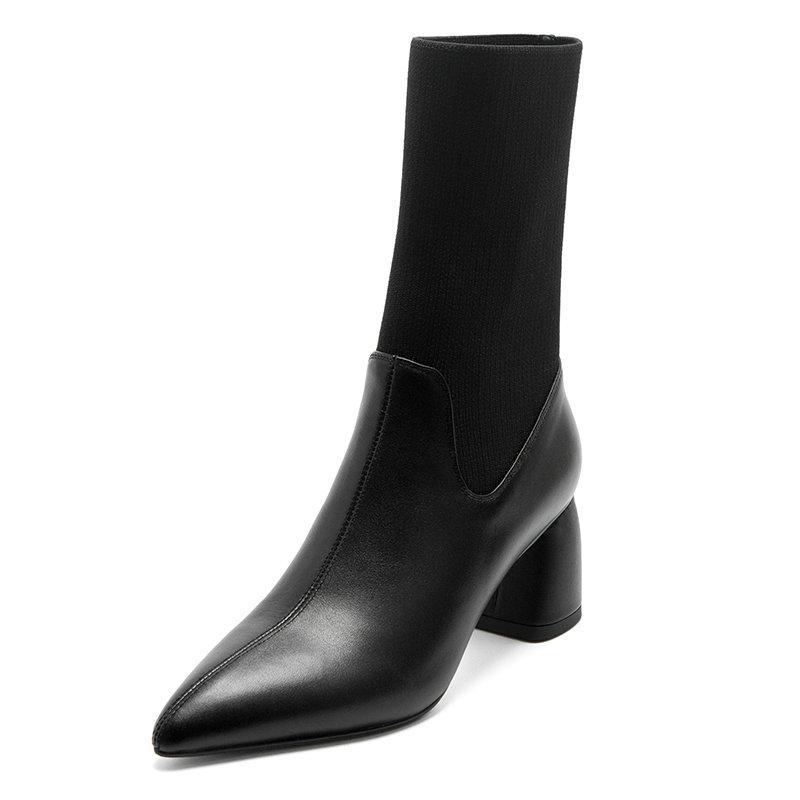 2021 nuove scarpe dei tacchi alti del cuoio genuino disegno classico punta aguzza sexy scarpe fatte a mano per le donne da sposa Donna Casuale