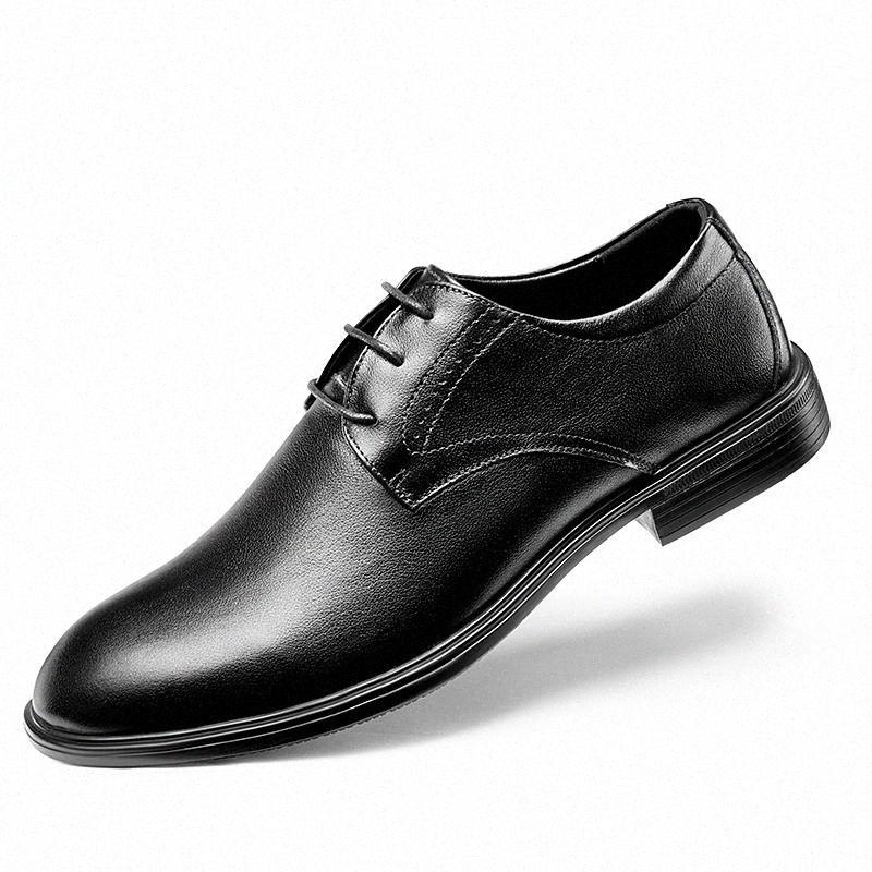 Chaussures pour hommes Véritable Cuir Homme Chaussure Maceurofers Respirant Oxfords Fringe Robe Formelle Rétro Mans Chaussures Ascenseur Chaussures # VJ8V