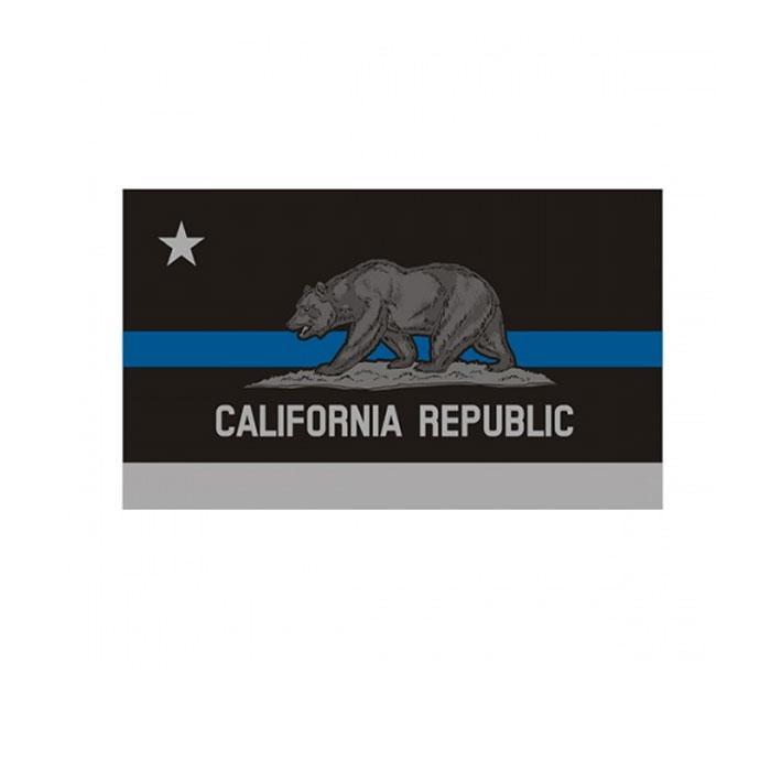 Kalifornien Thin Blue Line Flag 3x5 FT Polizei Banner 90x150cm Festival-Party-Geschenk 100D Polyester Indoor Outdoor Printed Flaggen und Banner