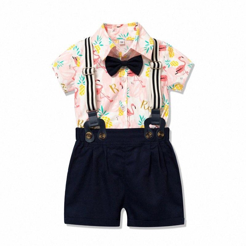 2020 2020 Cotton Plaid Shirt + Hosen-Baby-Kleidung stellt Gentleman Kleidung Outfits Bebes Anzüge W7WX #