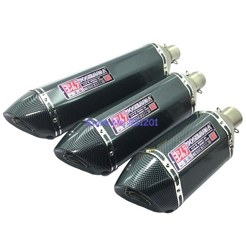 Мотоцикл выхлопной системы 57см / 47 см / 37см впускной 51 мм 61 мм Yoshimura труба глушитель выбежать углеродное волокно