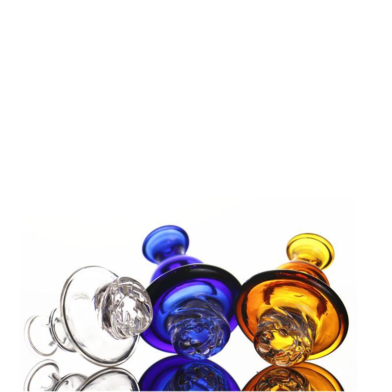 Ciclón Spinning Carb Cap Cap Glass Para cacharro parte superior plana de 25 mm Cúpula con el giro agujero de aire Terp de perlas de cuarzo Banger de uñas