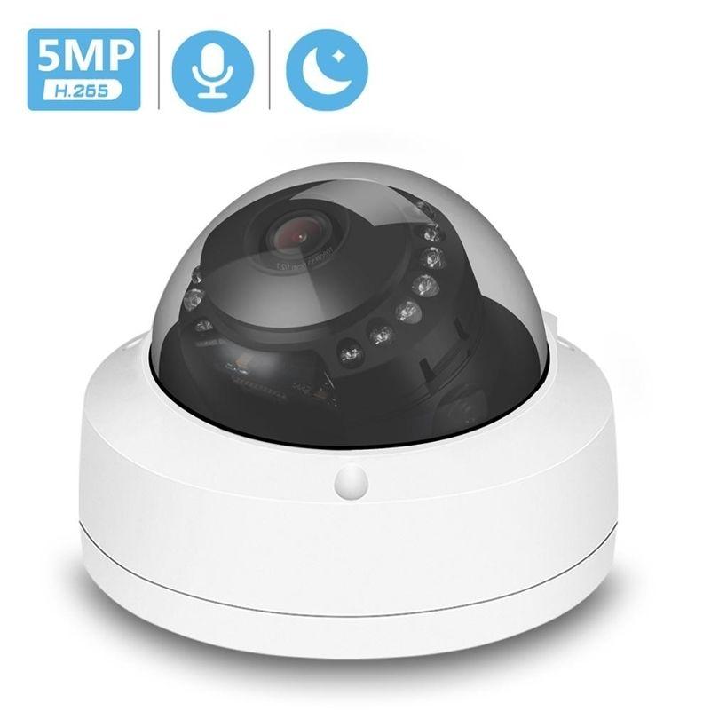 H.265 5MP 3MP 2MP POE IP Kamera Vandal-Proof Onvif CCTV Dome Kamera Video Gözetim Hareket Sensörü Ses Kayıt Kamera IP RTSP LJ201211