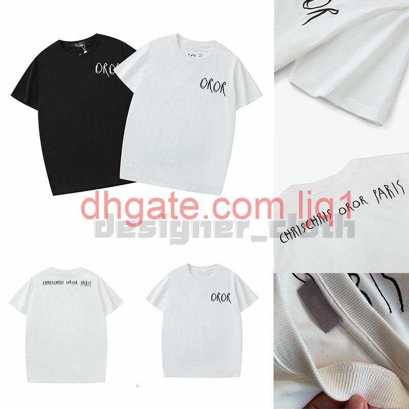 Christian Fashion Herren Casual T-Shirt Herren Designer T-shirt Mann Paris Frankreich Straße Shorts Sleeve Kleidung T-shirts Asiatische Größe S-XXL