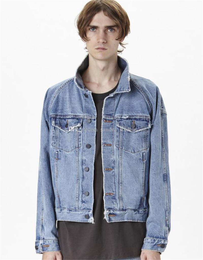 21ss Джастин Бибер Короткая куртка Страх о Божьей летучей мышке джинсовая куртка тумана свободные пары стиль пальто