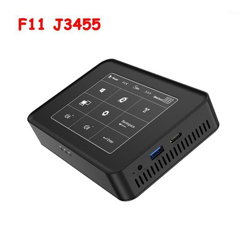 Mini PCS F11 Touch Panel Quad Cores PC Intel Celeron J3455 Windows 10 4K HTPC 6 GB LPDDR3L 128GB SSD HD-MI Dual Band WiFi BT4.01