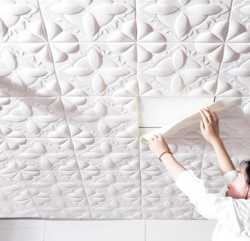 حار بيع خلفيات 3d الطوب نمط للتلفزيون خلفية غرفة المعيشة جدار ديكور diy ذاتية اللصق للماء XPE رغوة ملصقات الحائط