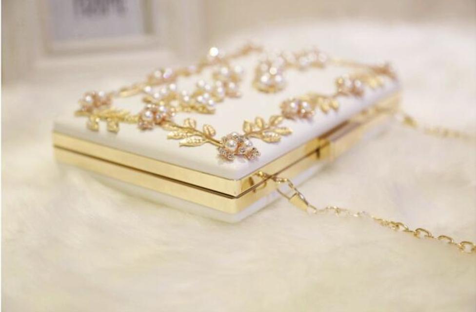 2020 Borse da sera borsa da donna per partito nuove donne catena borsa a tracolla signore moda oro frizione box borsa donne messaggero