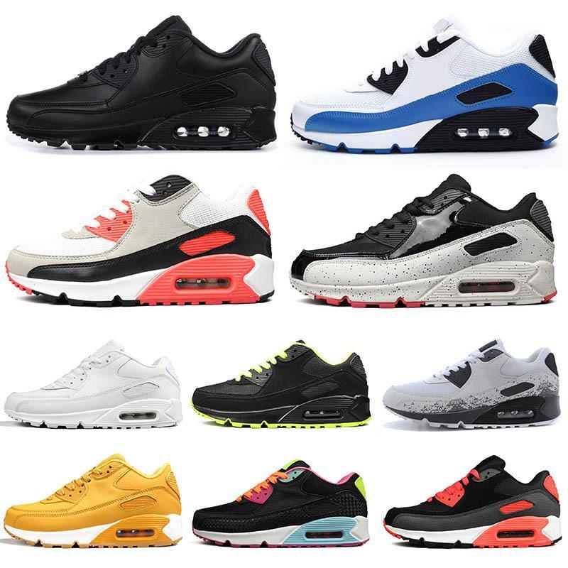 Triple negro blanco para mujer zapatos para hombre de color amarillo infrarrojo bred diseñador zapatos deportivos mujeres entrenadores tenis hombres zapatillas de deporte size EUR 36-45