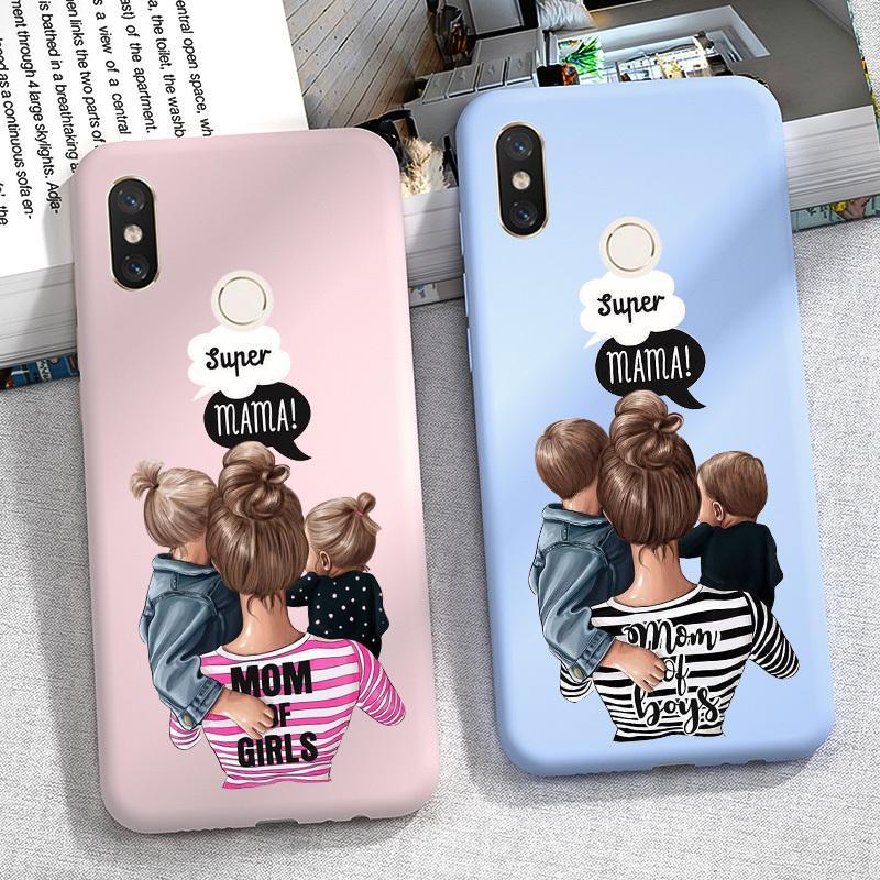 Super Mom Téléphone cas pour Xiaomi redmi Note 8 PRO 8T 8 T 9S 9 S 7 6 5 Plus 5A 6A 7A 8A 9A couverture Mi A3 Mi Note 10 Lite souple Pare-chocs