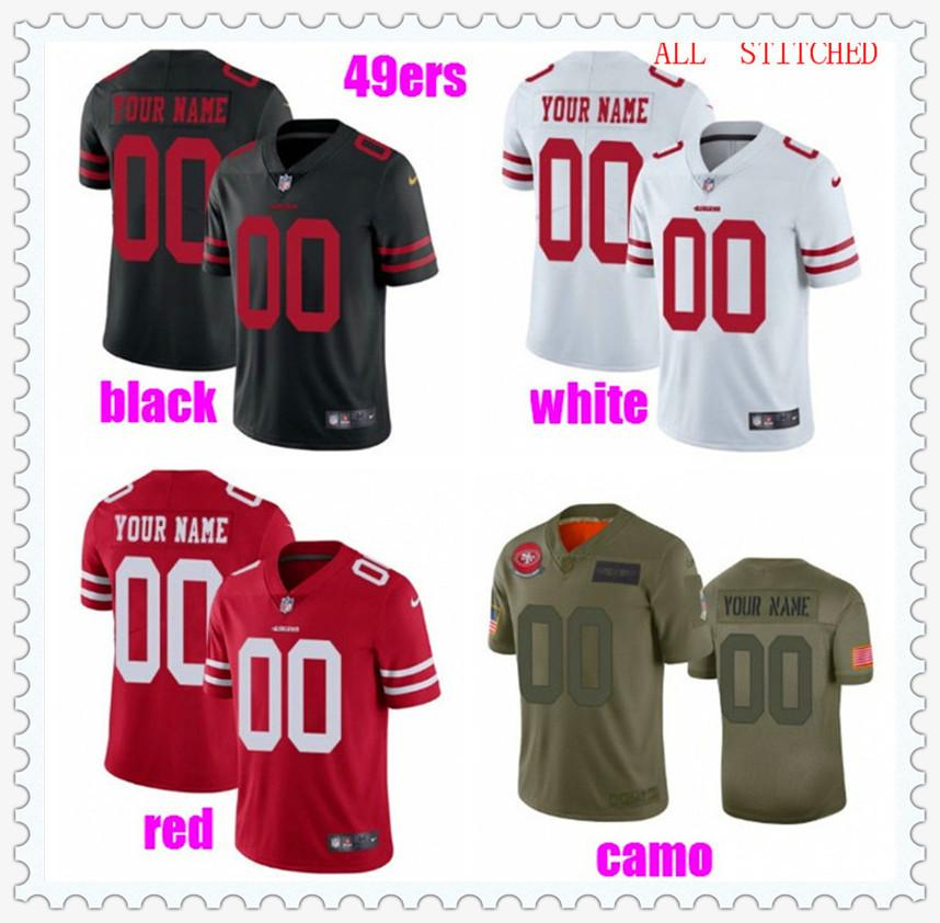 Benutzerdefinierte Herren Womens Jugend American Football Trikots Sport NFC AFC Team Authentic Fans Uniformen Offizielle 2021 Jersey Black 4XL 5XL 6XL