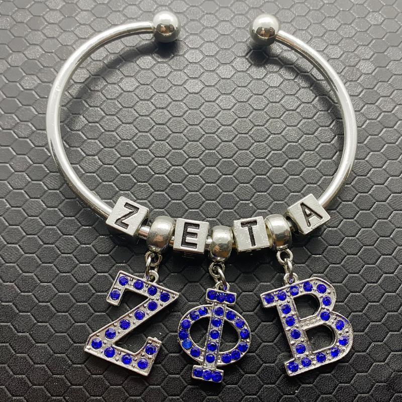 Новая мода ручной работы DIY металлическая буква бисера Zeta браслет общества общества оререства
