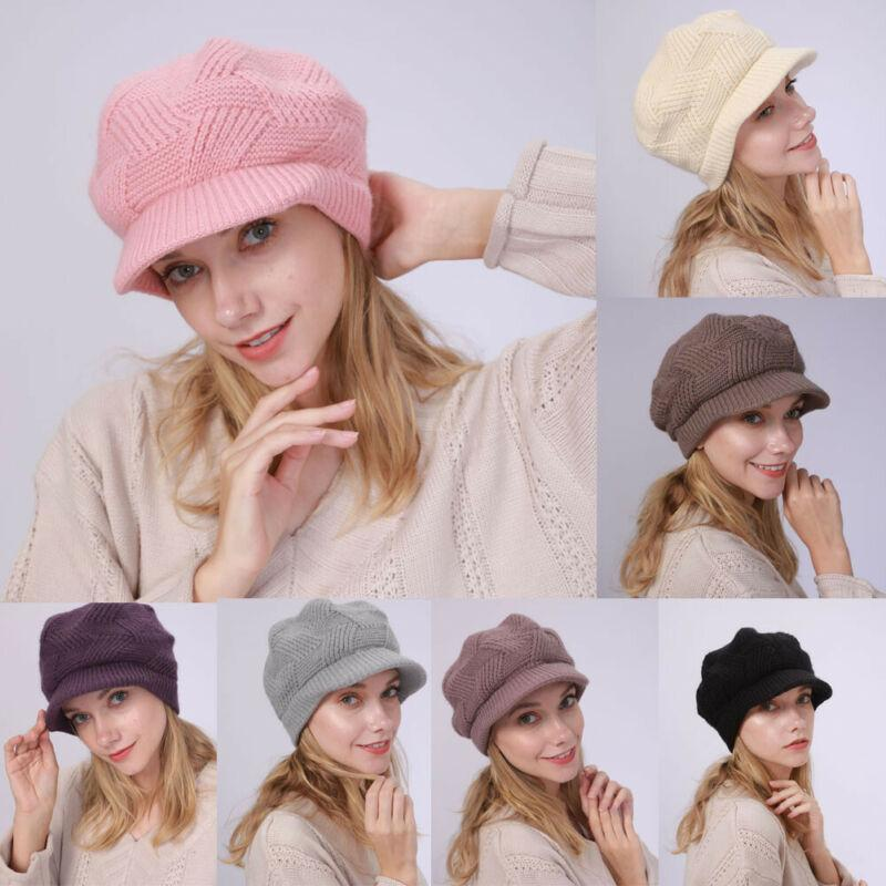 Frauen-Dame-Winter-Wärmer gestrickte Crochet Slouch Baggy Beanie Mütze Ski Beret Cap