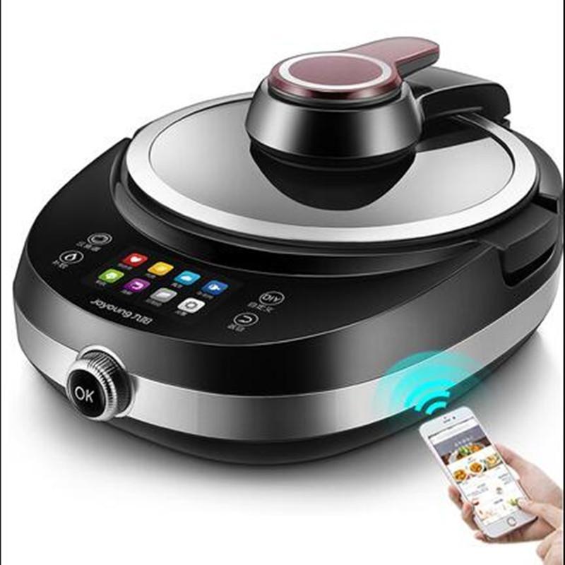 Frigideira Elétrica 220V Automático Frigiding Wok Pote Não-Stick Inteligente Inteligente Multi Cooker Cooking Máquina de Cozinha UE / AU / Reino Unido