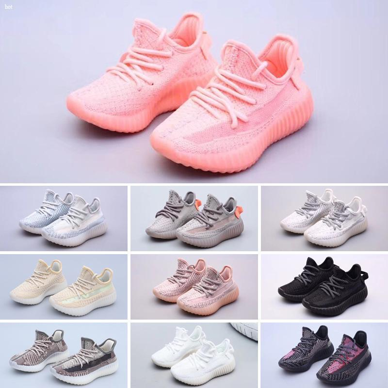 2020 Лучшие качества Детские кроссовки Мальчик и девочка Желтый Основной темнокожих детей Спортивная обувь Кроссовки ребенка на день рождения подарок