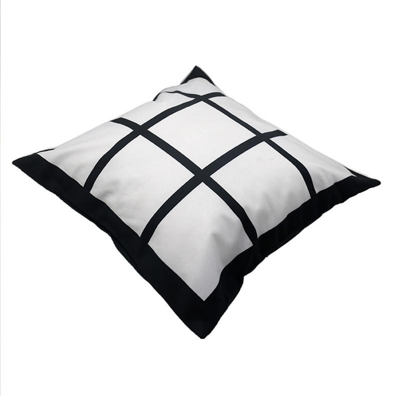 40 * 40cm Blank Sublimation Pillowcase Thermal Flannelette Kissenbezüge Neun Boxes Grids Kissen Dekokissen Abdeckung Heat Transfer F102003
