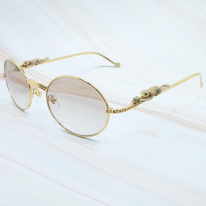 Panther Strass Männer Runder Eyewear Designer Qualität JKQ8 Hohe Sonnenbrille Metalle Diamant Shades Carter's Fashion Summer ICTQE