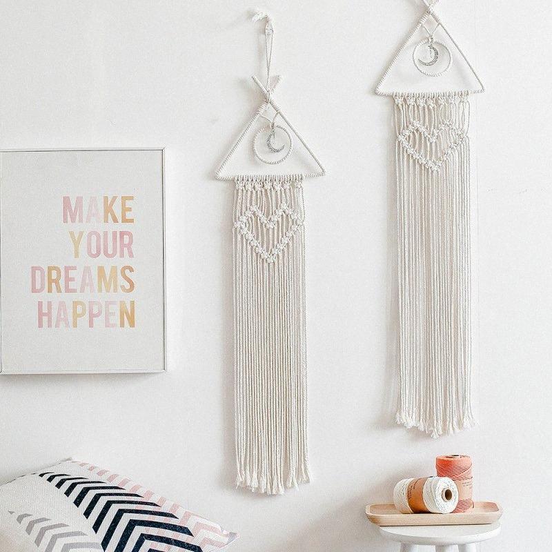Tapisserie murale tissée à la main Dream Catcher Hanging ornements Salon Chambre revêtements muraux Décoration o4z8 #